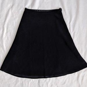 White House Black Market Black Skater Skirt